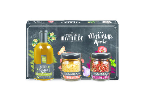 Le Comptoir de Mathilde COFFRET DECOUVERTE MATHILDETTE APERO 5CL+10G+20G 6st