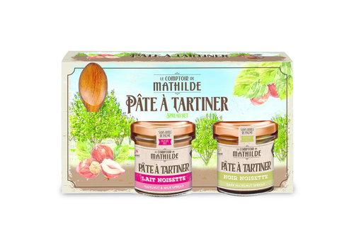 Le Comptoir de Mathilde COFFRET PAT NOIR & LAIT + CUILLERE 2X100G 6st