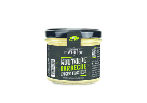 Le Comptoir de Mathilde MOUTARDE BBQ EPICES TOASTEES 100G 12st