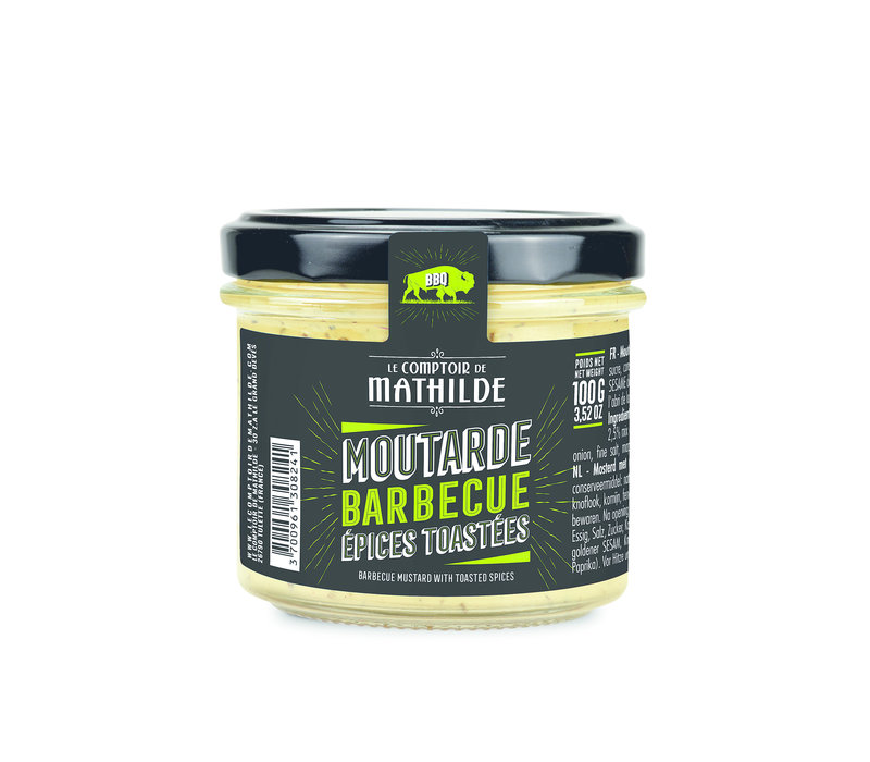 MOUTARDE BBQ EPICES TOASTEES 100G 12st