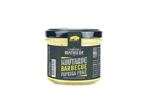 Le Comptoir de Mathilde MOUTARDE BBQ PAPRIKA FUME 100G 12st