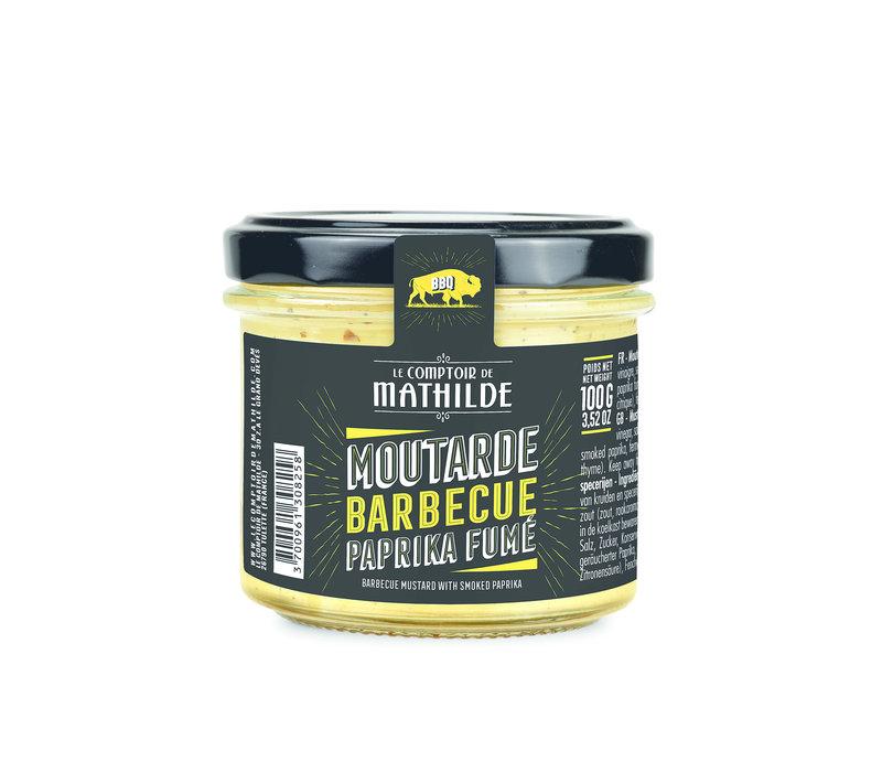 MOUTARDE BBQ PAPRIKA FUME 100G 12st