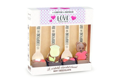 Le Comptoir de Mathilde COFFRET 4 HOT CHOC LOVE 4X30G 6st