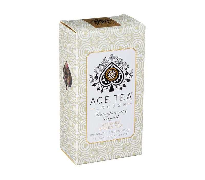 Ace Tea Jasmine Green Tea Carton - 15 Tea Stockings 10st