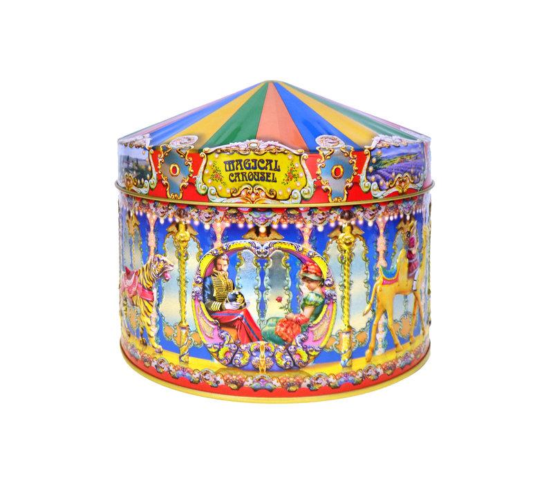 Magic Carousel tin 400g Vanilla & Toffee 12bl