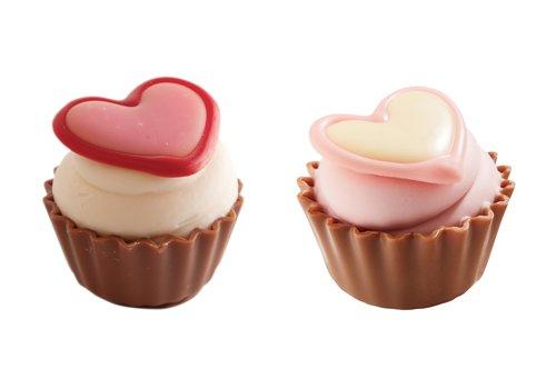 Valentijn cupcakes wit/roze ass 22,5g 1,0kg