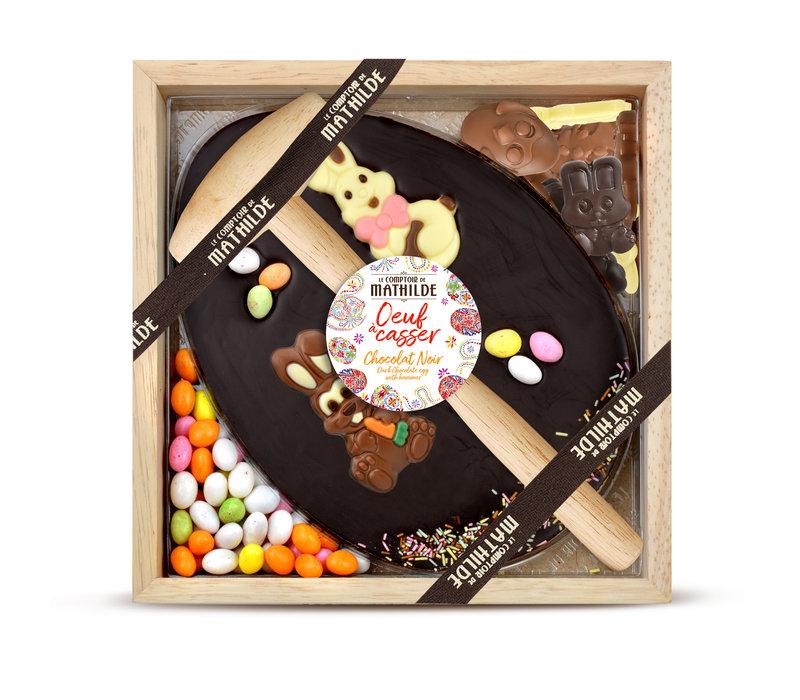 OEUF A CASSER CHOCOLAT NOIR 350G 4st