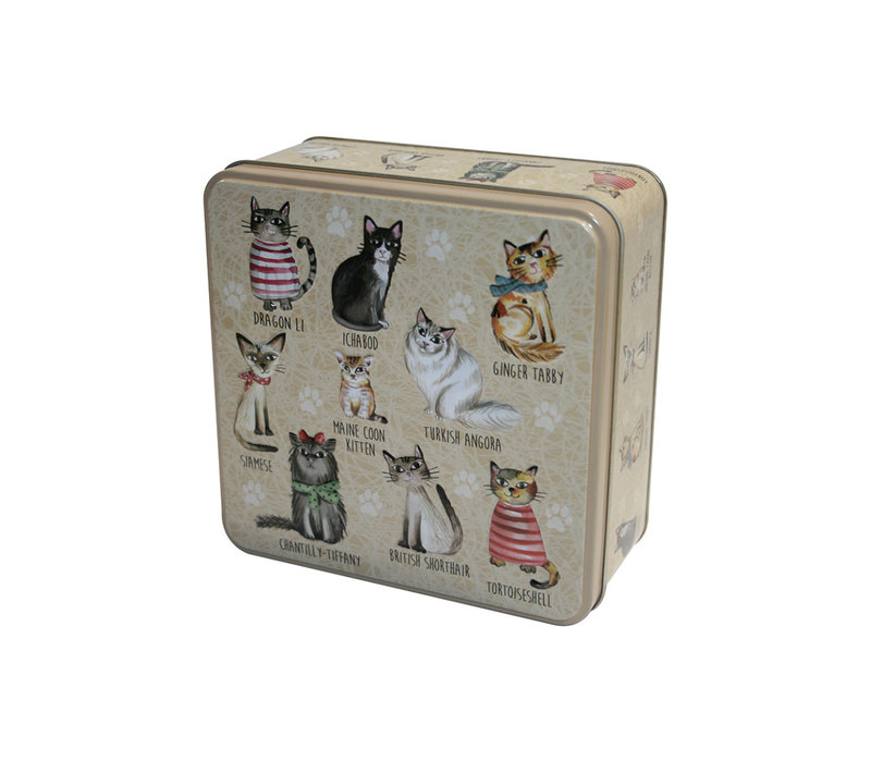 Embossed Cats in Jumpers Tin 160g 6st