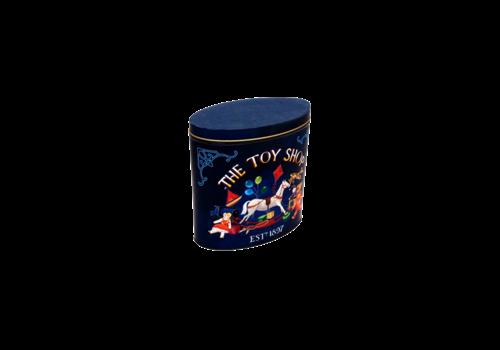 Grandma Wild's Embossed Blue Oval Rocking Horse Tin 300g 6st