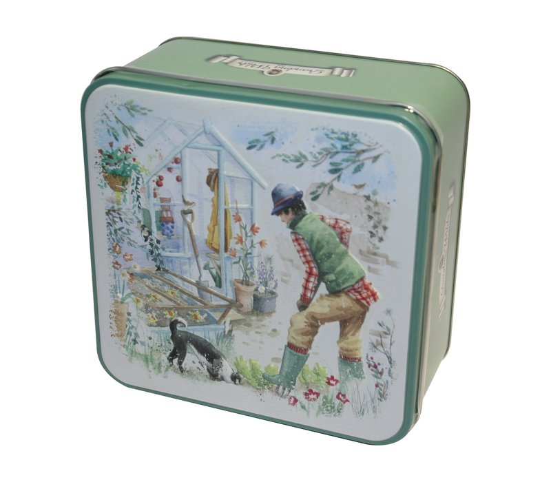 Embossed Potting Shed Tin 300g 6st