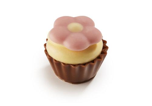 Lente cupcake met bloemetje 22,5g 1kg