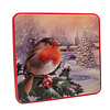 Grandma Wild's Embossed Robin in a Winter Village Tin 160g 6st NIEUW