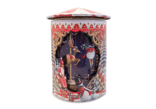 Grandma Wild's Rotating Musical Christmas Showtime Tin 200g 6st NIEUW