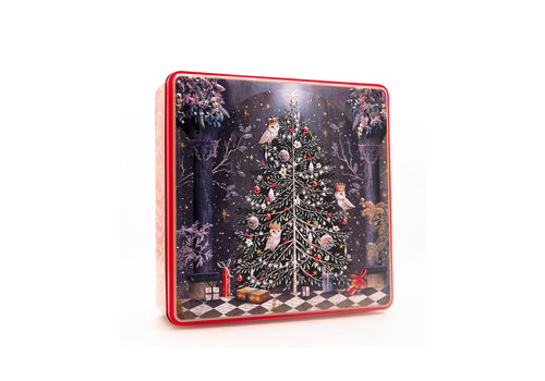Grandma Wild's Embossed Decorated Christmas Tree Tin 400g 6st