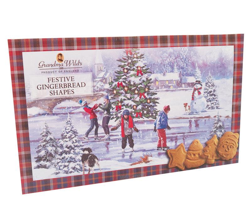 Festive Gingerbread Shapes Large Box390g 9st NIEUW