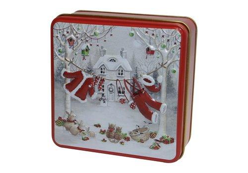 Grandma Wild's Embossed Santa's Washing Line Tin 100g 12st