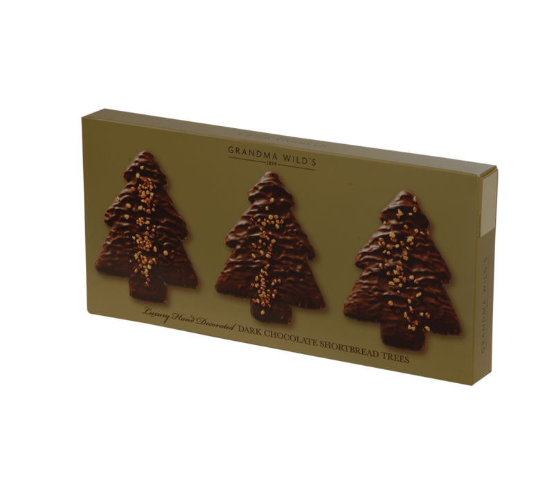 Christmas Tree with Gold Sparkle Box 165g 10st