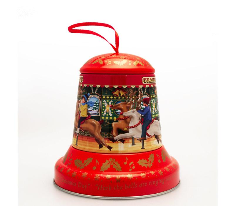 Embossed Christmas Bell Tin 100g 6st
