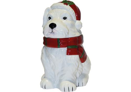 Grandma Wild's Ceramic Christmas White Scottie Dog 150g 6st