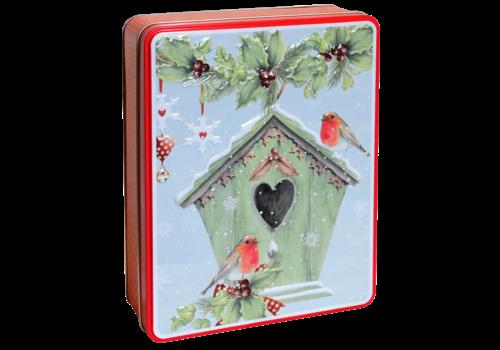 Grandma Wild's Red Embossed Bird House Tin 400g 6st