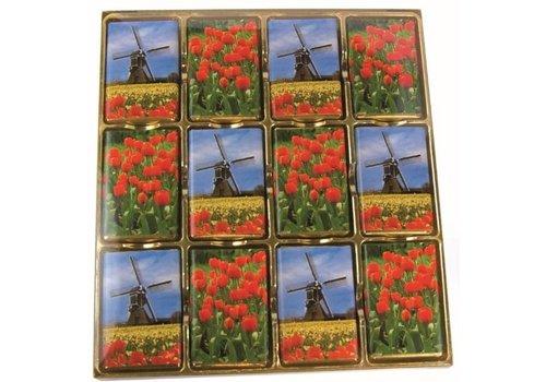 Tulpen en Molens tabletjes K24 204g 6st