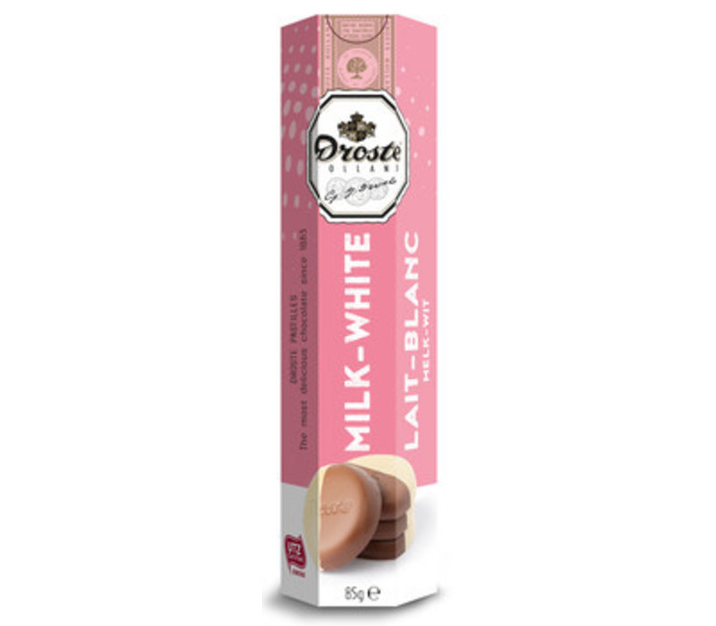 Droste Pastilles melk/wit 85g 12st