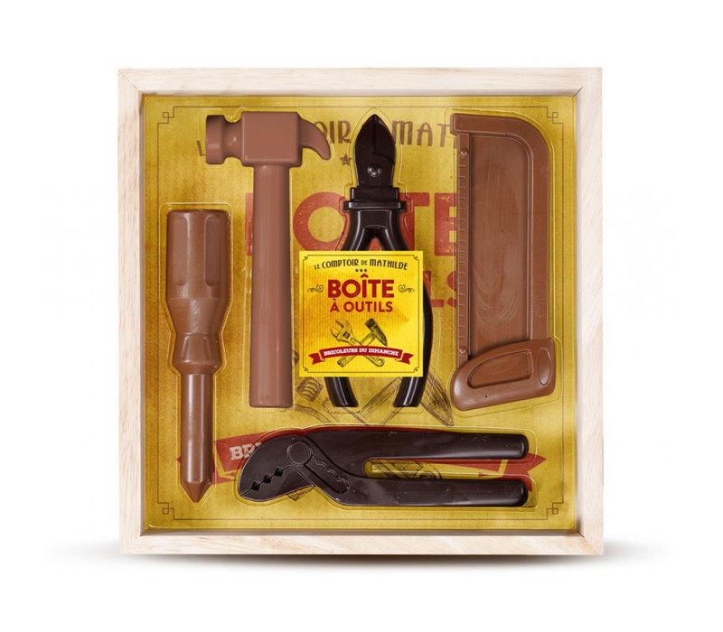 Coffret Boite à outils 2 Chocolats 175g 6st