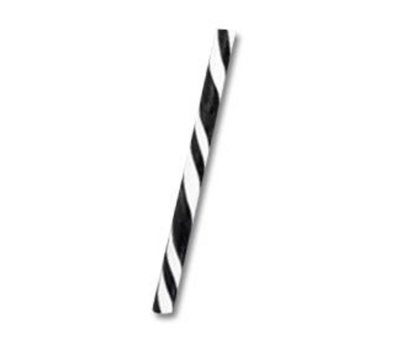 Zwart-Wit stok nr.2 24cm 45st