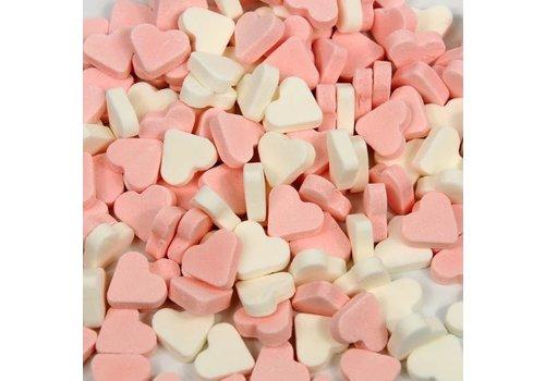 Mini Pepermunt Hartjes rose/wit 1kg