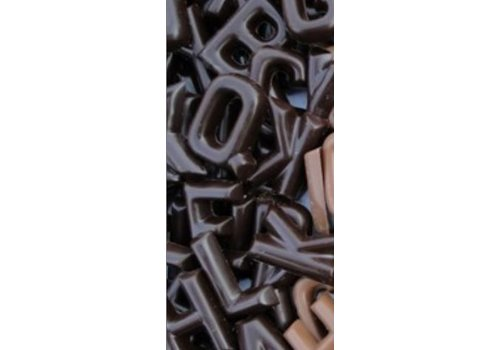 Lettertjes chocolade puur 2kg