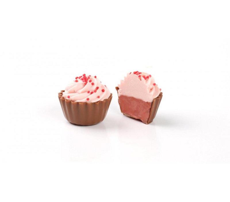 Cupcake Aardbei 19,2g 1kg