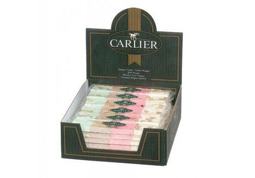 Carlier Carlier display nougat reep 4 smaken 100g 30st