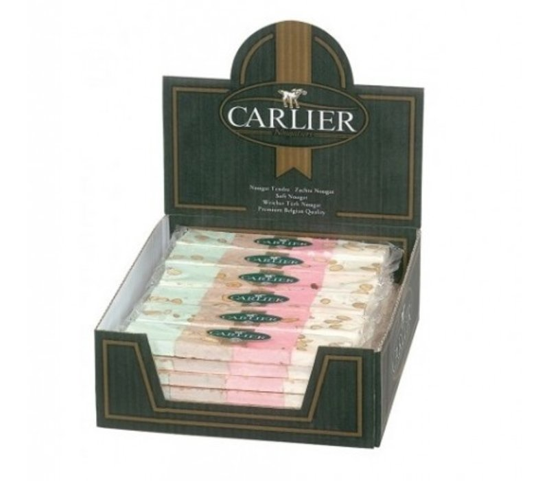 Carlier display nougat reep 4 smaken 100g 30st