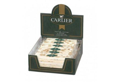 Carlier Carlier display nougat reep vanille amandel 100g 30st