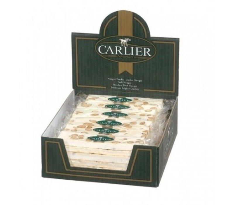 Carlier display nougat reep vanille amandel 100g 30st