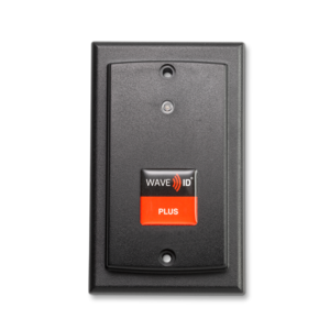 KT-800W1AK5-IP67 WAVE ID® Plus V2 Keystroke Enroll w/ iCLASS SE™ Wallmount IP67 Black 5v Pin9 RS232 Reader