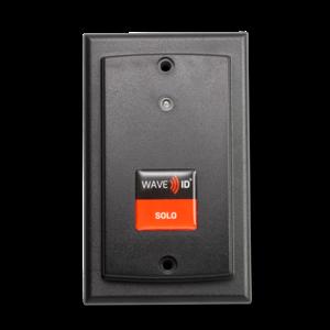 RDR-60W1AKE WAVE ID® Solo Keystroke HID™ Prox Wallmount Black Ethernet Reader, w/power supply