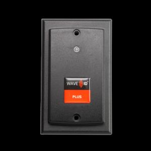 RDR-800W1AK8 WAVE ID® Plus V2 Keystroke w/ iCLASS SE™ Wallmount Black 5v ext p.s. RS232 Reader