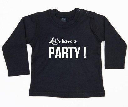 SuzyB Shirt Let's have a party (zwart)