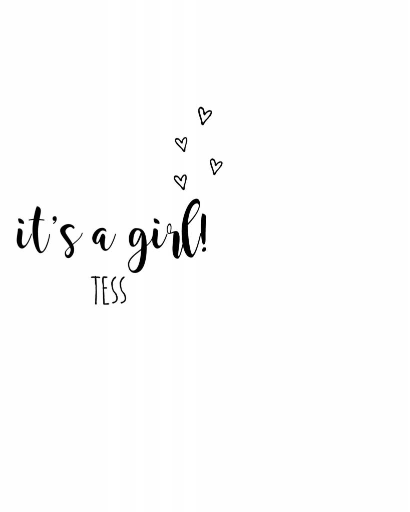40e128f4c17 SuzyB Geboortesticker it's a girl! - SuzyB