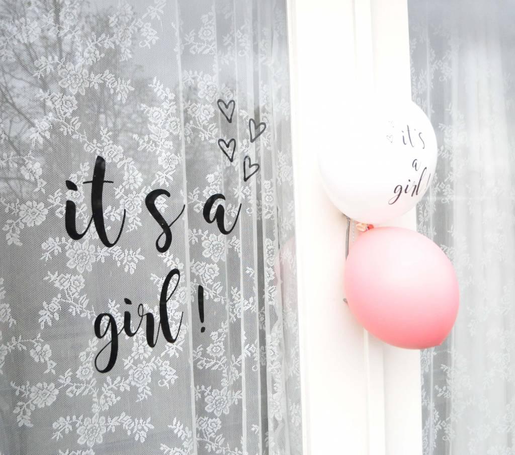 SuzyB Geboortesticker It's a girl!