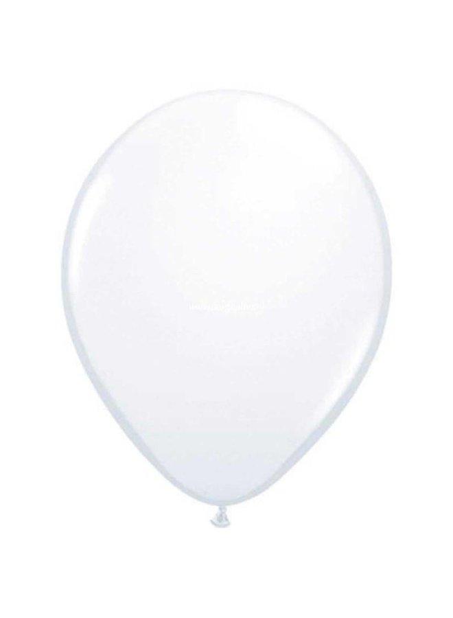 Mini ballon wit 10x