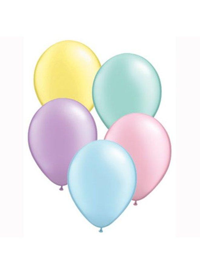 Mini ballonnen pastelkleuren mix 10x