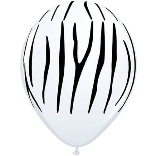 Ballonnen met zebrastrepen 5x