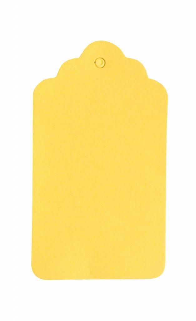 Cadeaulabel geel 5x