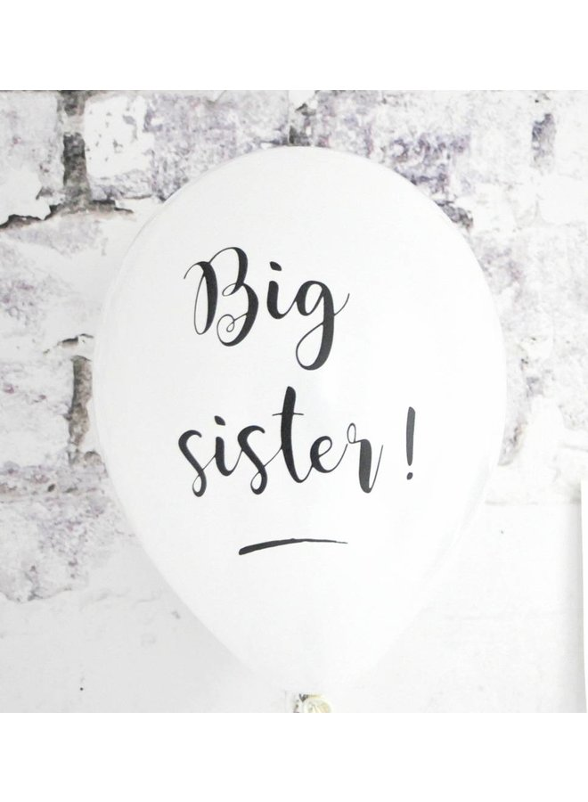 Big sister ballonnen