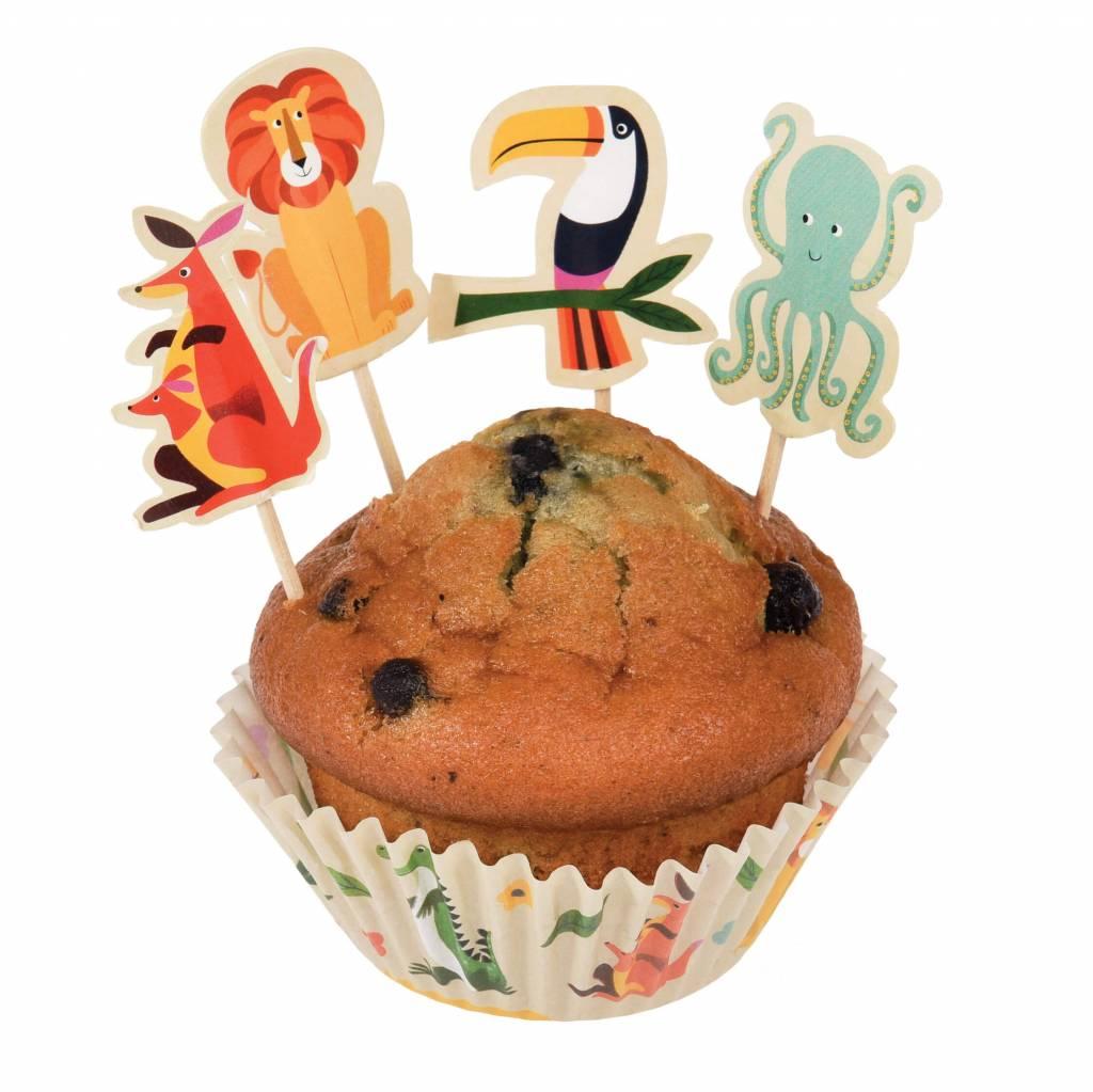 Cupcake set dieren