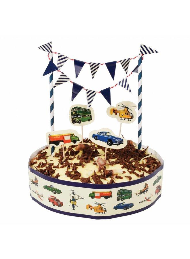Cake topper auto's