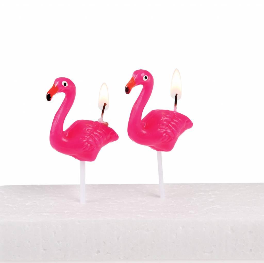 Flamingo kaarsjes