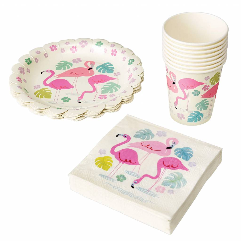 Servetten flamingo